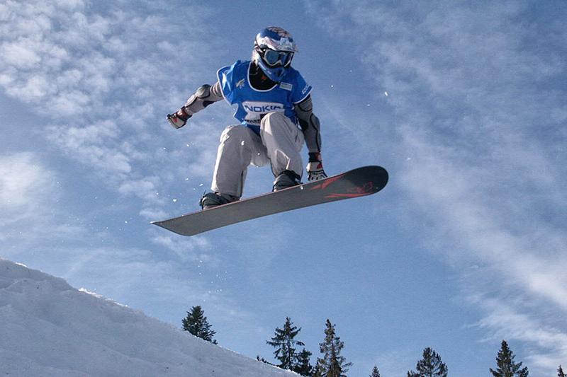 Snowboarden im Skigebiet Bischofswiesen - Götschen
