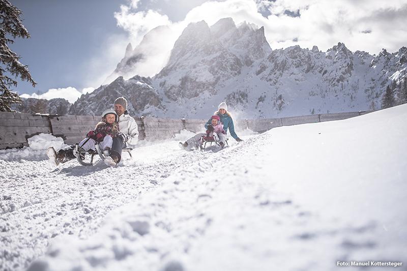 Rodeln in den Dolomiten