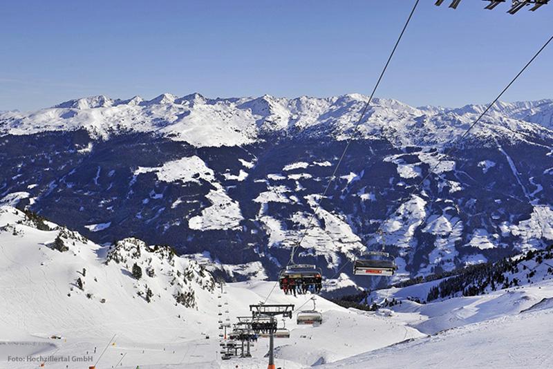 Skigebiet Fügen - Kaltenbach - Hochzillertal in Tirol