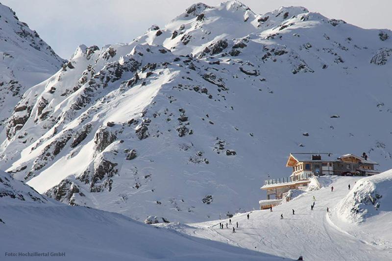 Kristallhütte im Skigebiet Kaltenbach-Hochzillertal