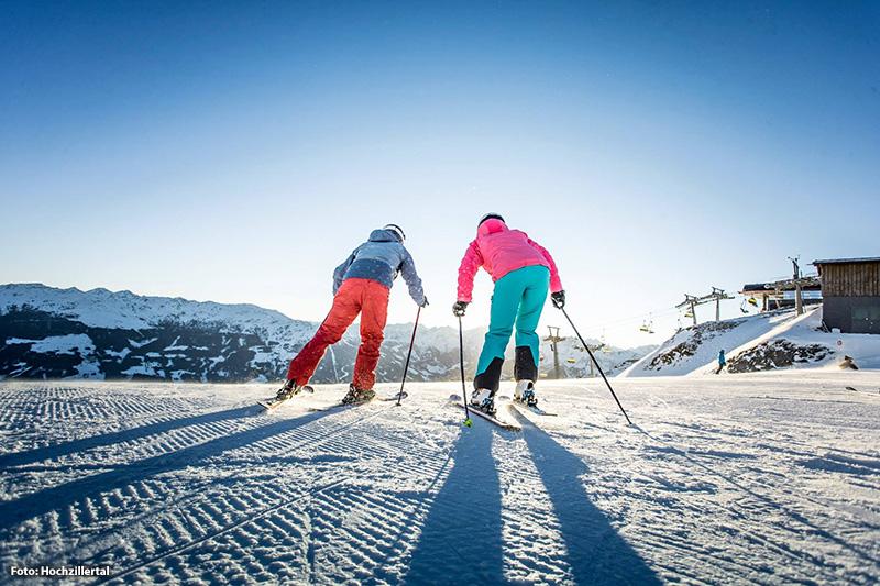 Skifahren im Skigebiet Hochzillertal
