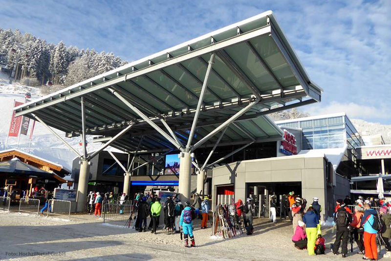 Die Talstation Kaltenbach