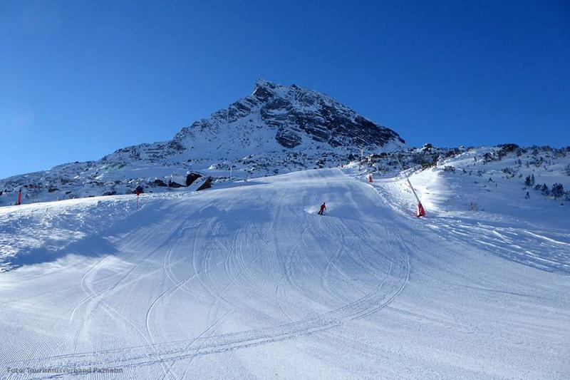 Kopsseeabfahrt im Skigebiet Galtür