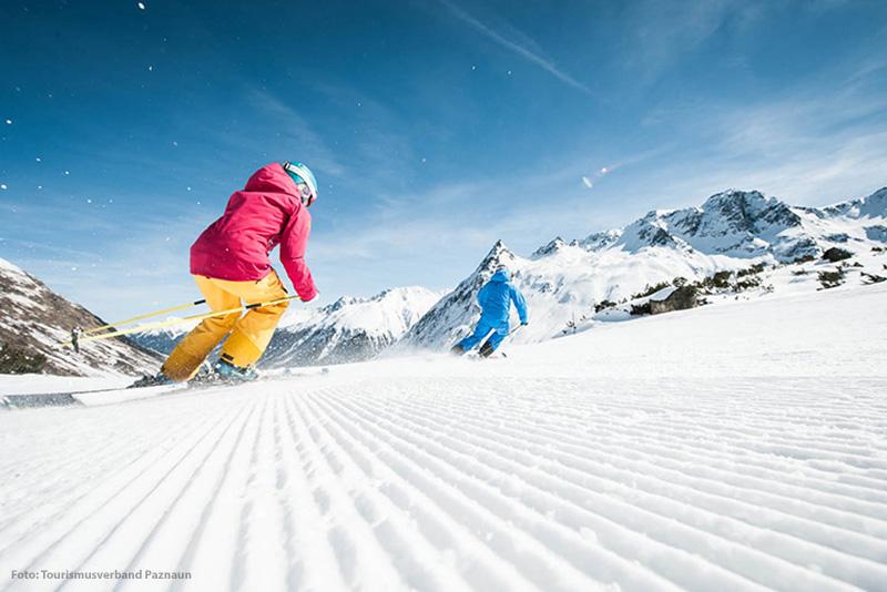 Skifahren im Skigebiet Galtür