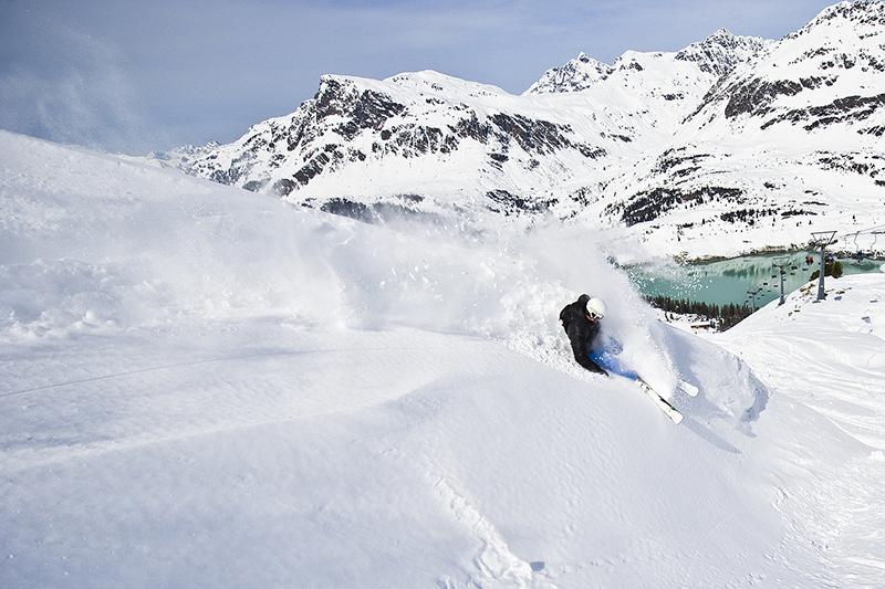 Tiefschneefahren in Galtür, Silvretta-Paznaun