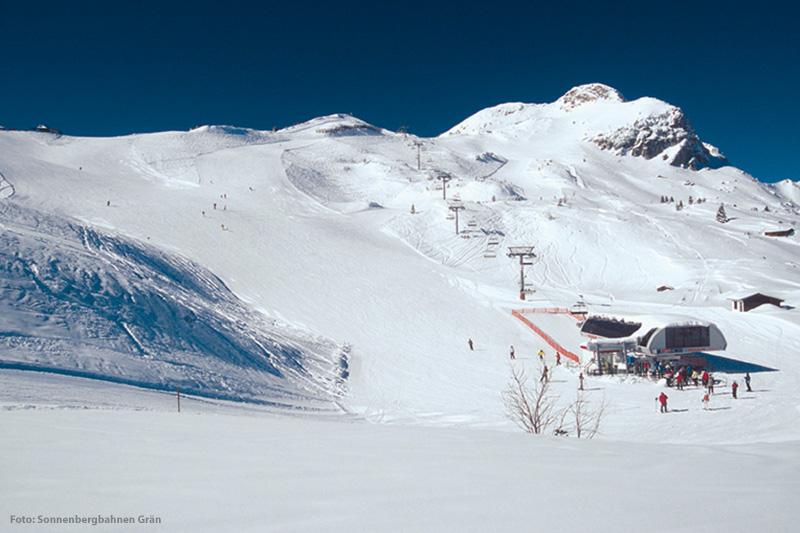 Ausblick Bergstation im Skigebiet Grän - Füssener Jöchle in der Region Tannheimer Tal