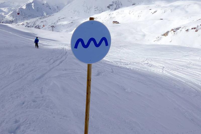Wellenpiste im Skiegebiet Heiligenblut