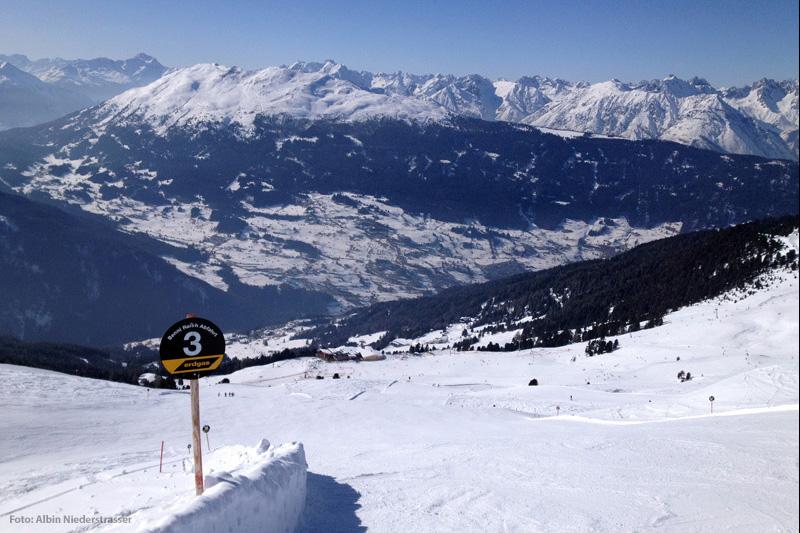Piste im Skigebiet Hochzeiger