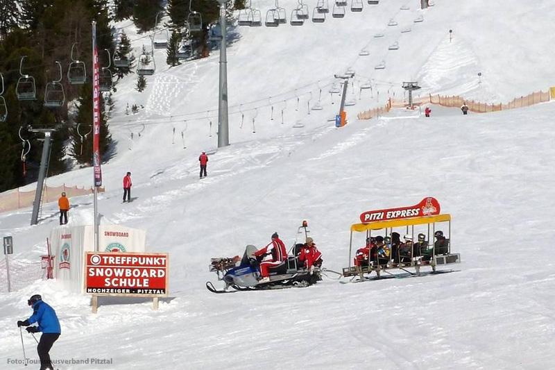 Der Pitzi Express an der Snowbordschule am Hochzeiger