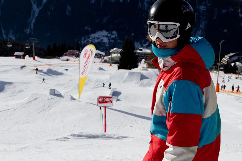 Der Snowpark am Hochzeiger im Pitztal
