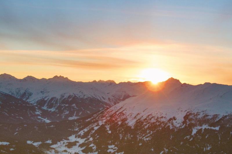 Sonnenuntergang am Pitztaler Hochzeiger in Tirol