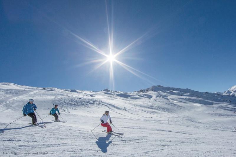 Skigebiet Hochzeiger im Pitztal in Tirol - Österreich