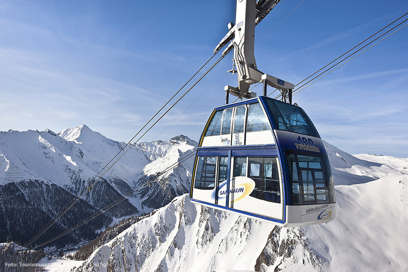 Die Bergbahn im tiroler Ischgl - Silvretta-Paznaun