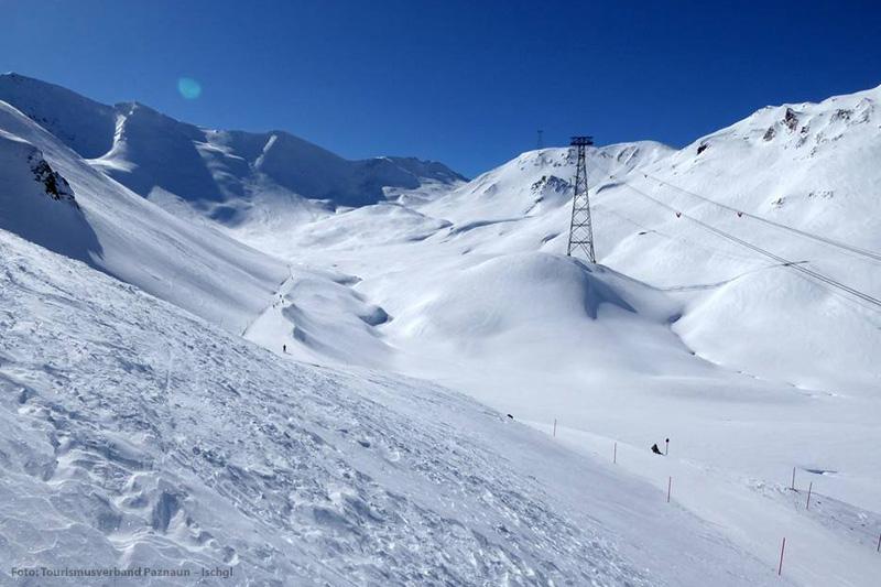 Freeridegelände im sonnenverwöhnten Skigebiet Ischgl-Samnaun