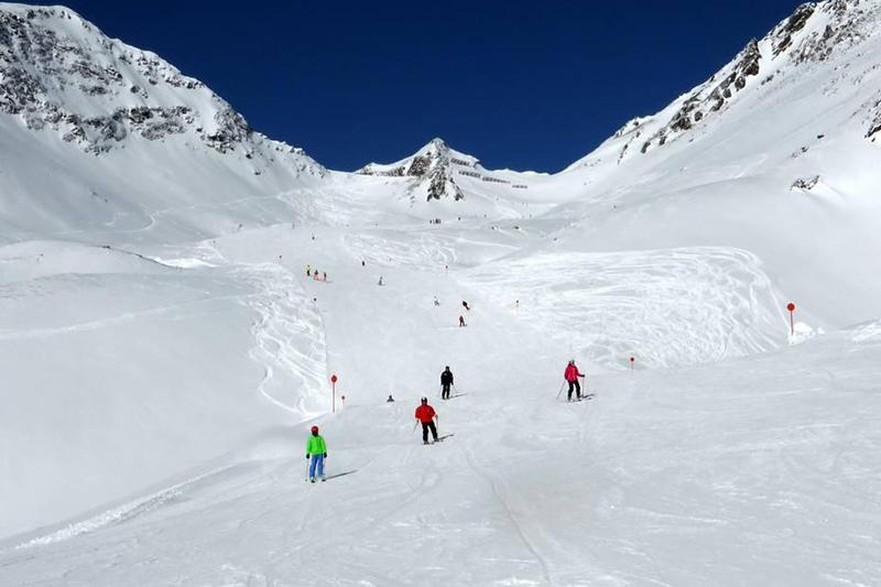 Die Lattenabfahrt im Skigebiet Kappl-Diaz in Tirol