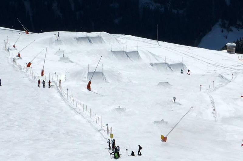 Der Snowpark im Skigebiet Kappl-Diaz in Tirol