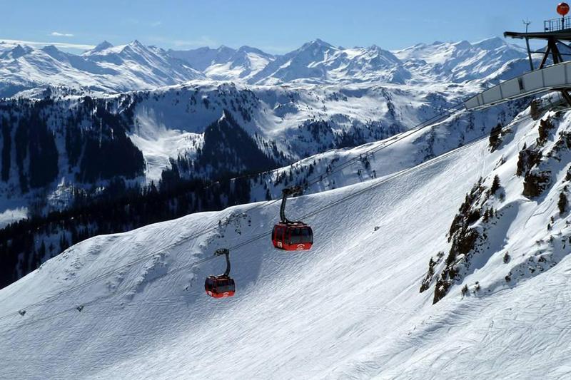 Kitzbüheler 3S Bahn in den Kitzbüheler Alpen in Tirol