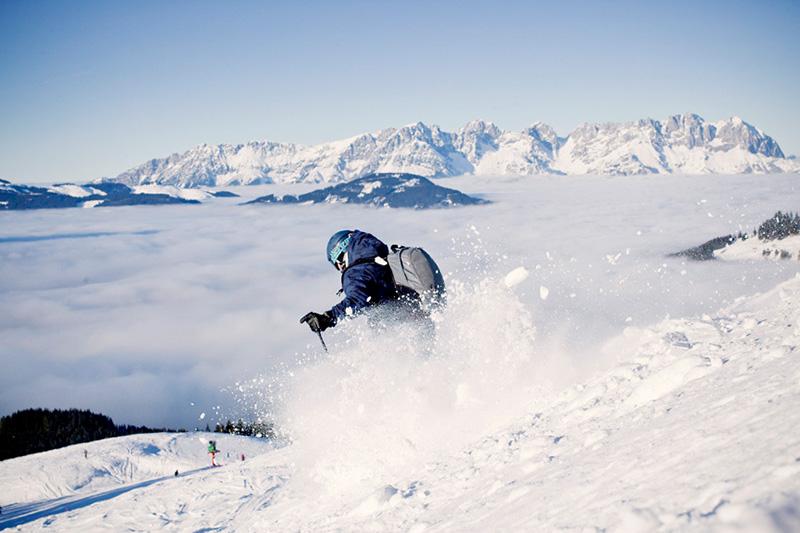 Die Pengelsteinabfahrt im Skigebiet Kirchberg-Pass-Thurn