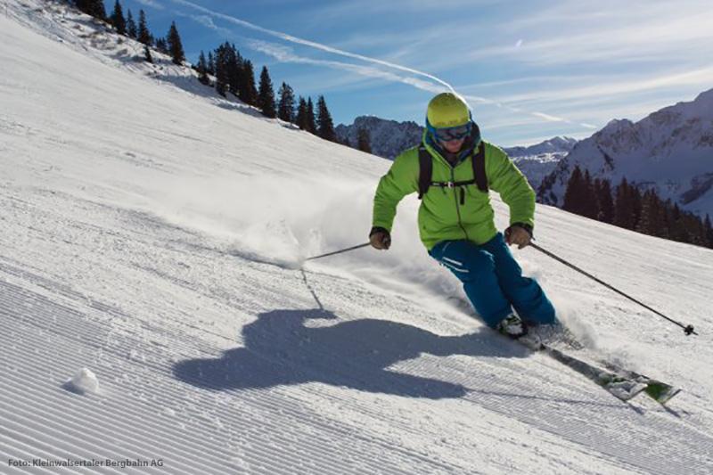 Skifahren im Skigebiet Walmendingerhorn-Heuberg
