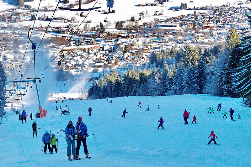 Familienskigebiet Kolbensattel - Ammergauer Alpen in Oberbayern