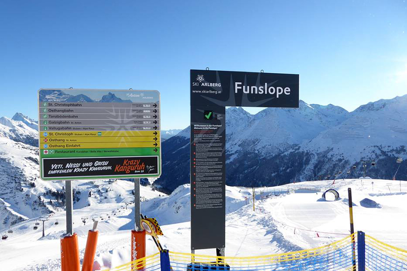 Funslope am Galzig St Anton in Tirol