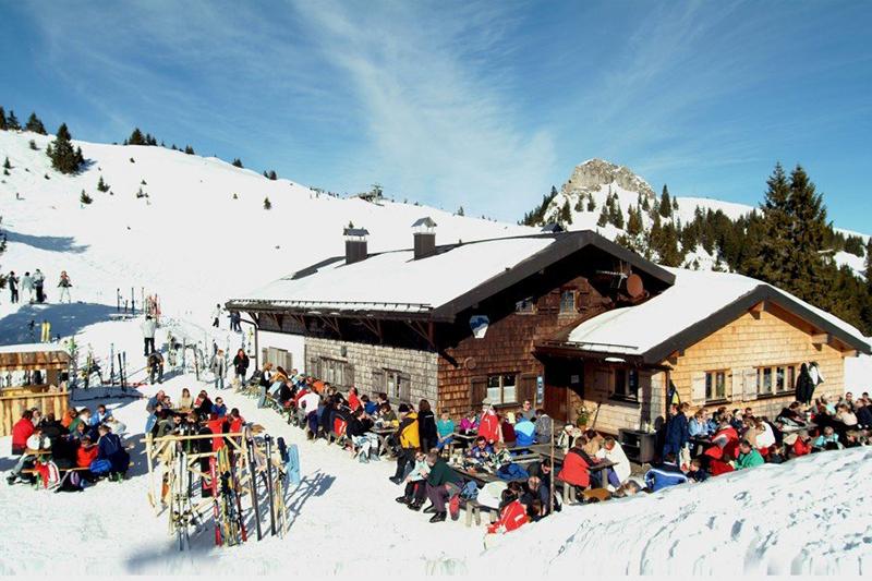 Urige Hütte im Skiegebiet Lenggries - Brauneck in Oberbayern