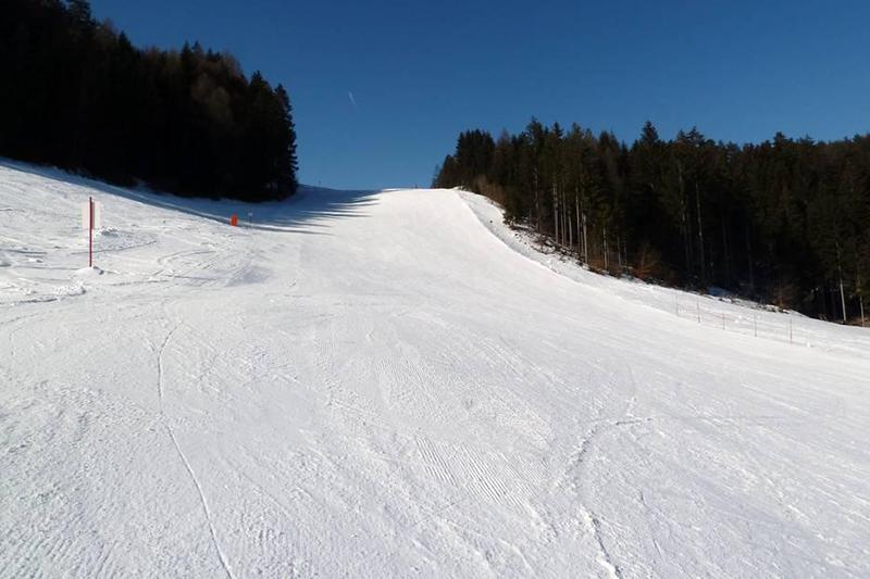 Reiterfeichte Abfahrt im osttiroler Skigebiet Lienz