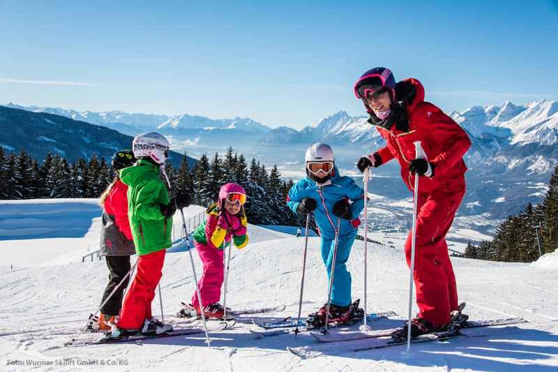 Karwendel Skifahren mit Kindern in Mittenwald - Alpenwelt Karwendel