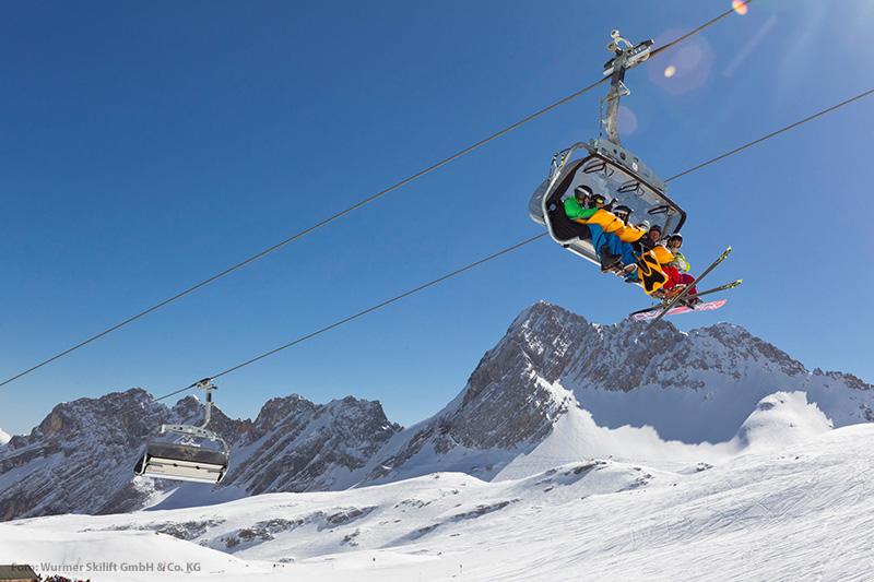 Lift im Familien Skiparadies am Kranzberg in der Alpenwelt Karwendel in Oberbayern