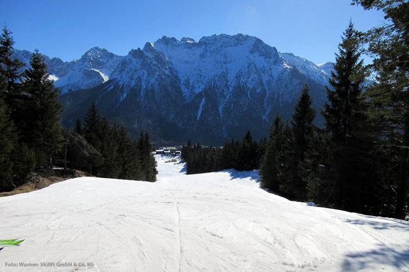 Breite Piste im Familien Skiparadies am Kranzberg
