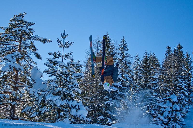 Skifahren im Kinderpark im Skigebiet Kranzberg - Mittenwald