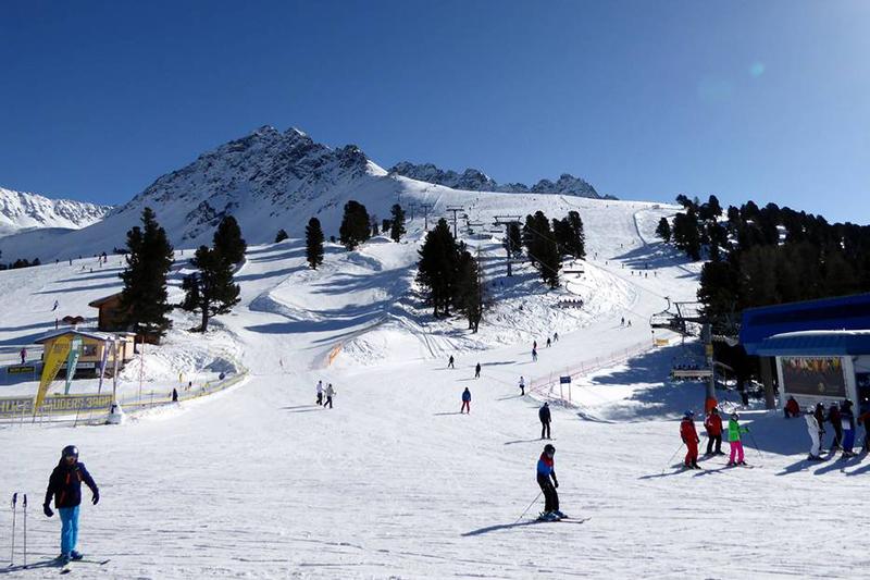 Die Bergkastel Bergstation im Skigebiet Nauders