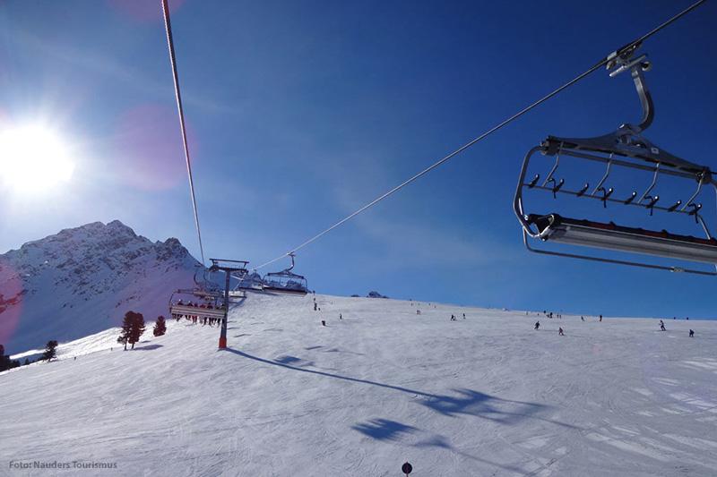 Perfekte Pistenverhältnisse im Skigebiet Nauders im Tiroler Oberland