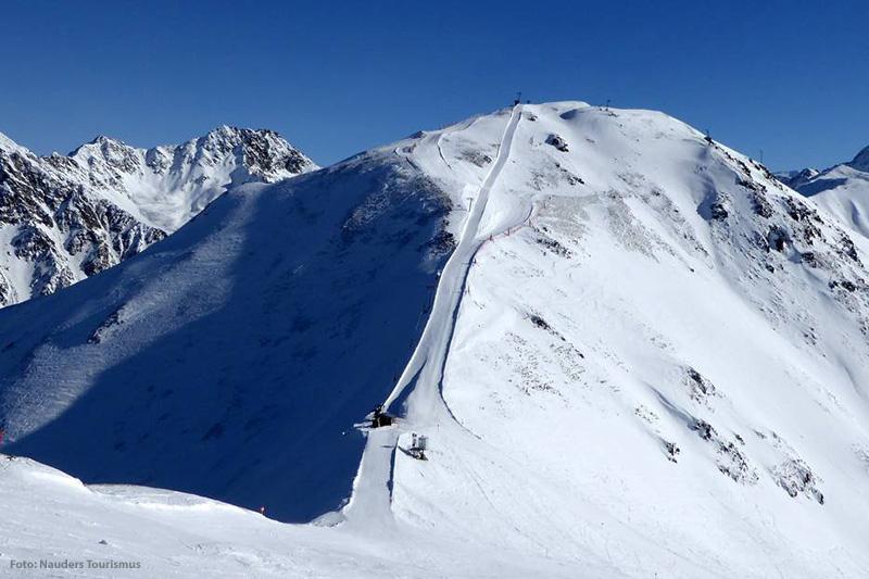 Die Güserabfahrt im Skigebiet Nauders in Österreich