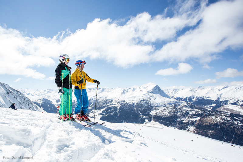 Skifahren im Skigebiet Nauders