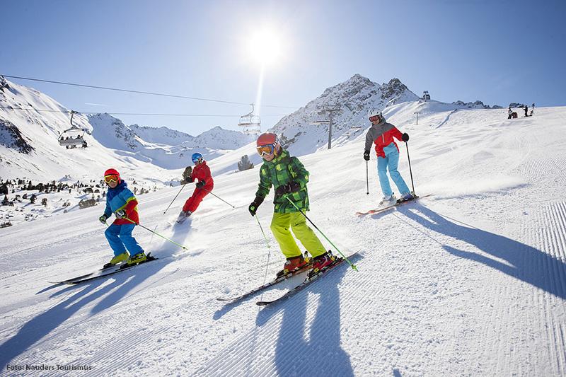Skigebiet Nauders im Tiroler Oberland in Österreich
