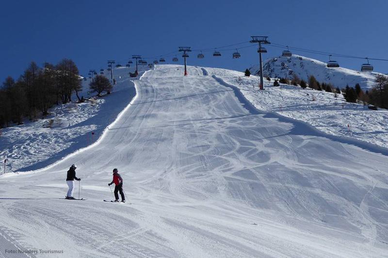 Die Tscheyeckabfahrt Skigebiet Nauders