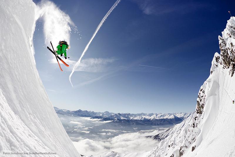 Skifahren im Skigebiet Nordkette