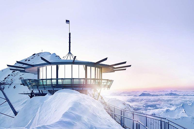 Die Aussichtsplattform TopMountainStar im Ötztal