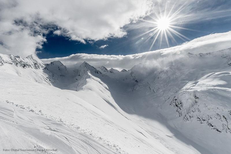 So schön ist Skifahren in den Ötztaler Alpen