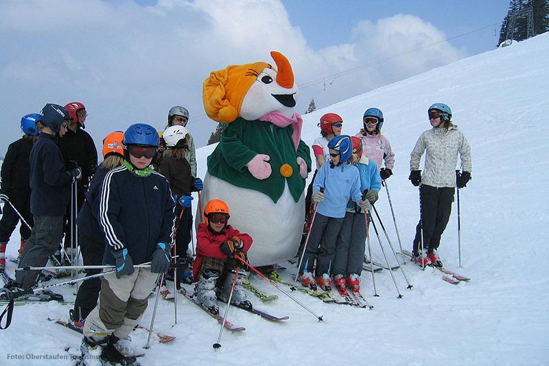Das Maskottchen der Skiarena Steibis im Allgäu