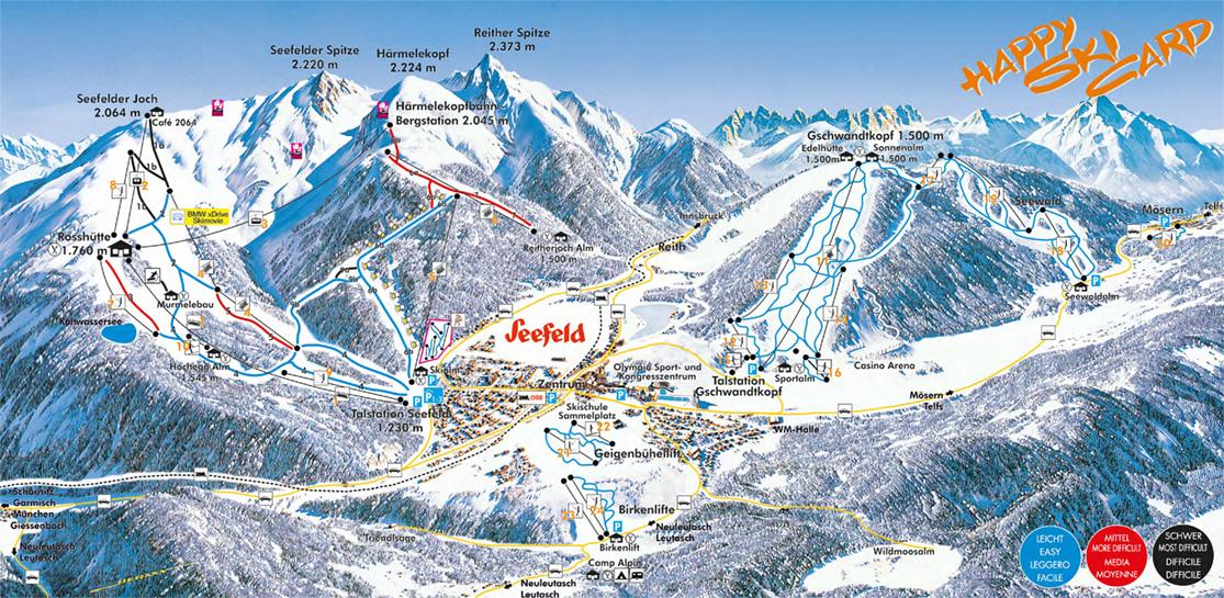 Pistenplan Skigebiet Gschwandtkopf