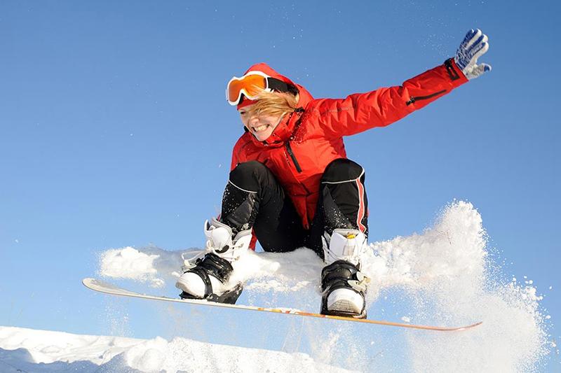Snowboarden im Berchtesgardener Land