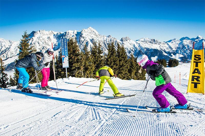 Renn- und Speedstrecken im Skigebiet Saalbach-Hinterglemm-Leogang-Fieberbrunn