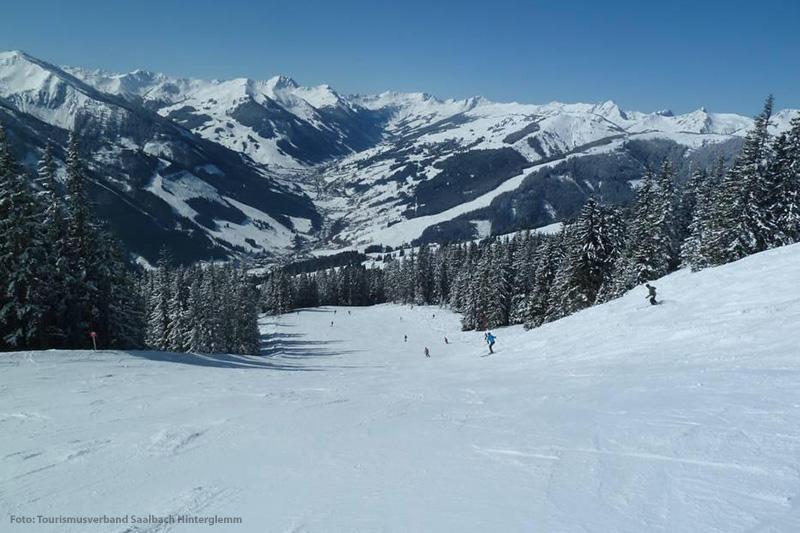 Die Thurneralmabfahrt in den Kitzbüheler Alpen in Tirol