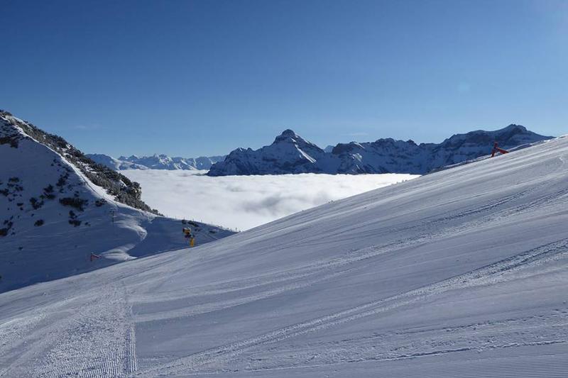 Hochnebel am Sennjoch in Tirol - Österreich