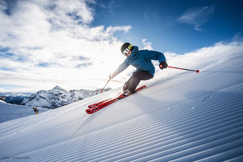 Skifahren im Skigebiet Schlick 2000