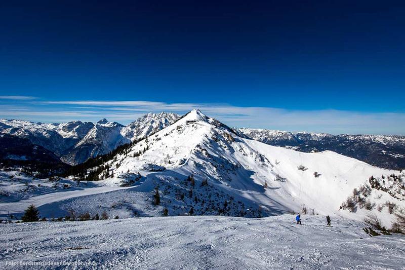Einzigartiger Panoramablick im Skigebiet Schönau am Königssee