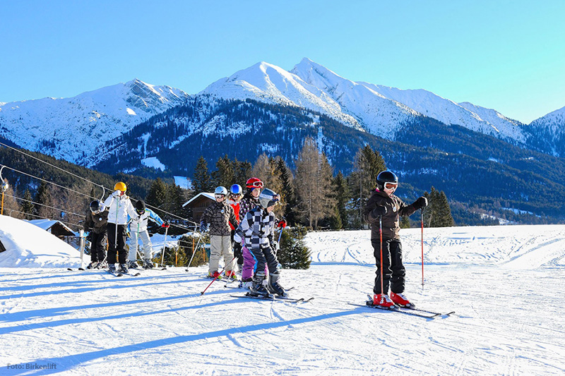 Skifahren am Birkenlift