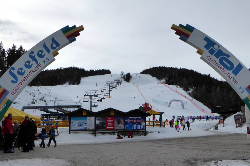 Skigebiet Seefeld Gschwandtkopf Eingang